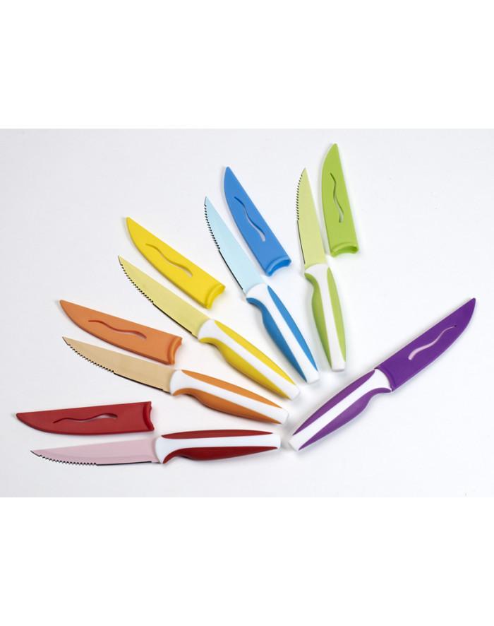 Couteaux couleurs coffret de 6 pieces